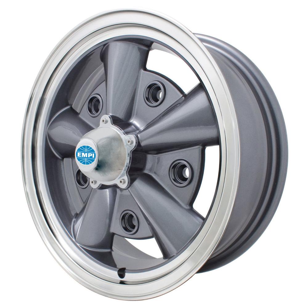 Empi Wheels 5-Rib - Anthracite w/ Polished Lip Rim