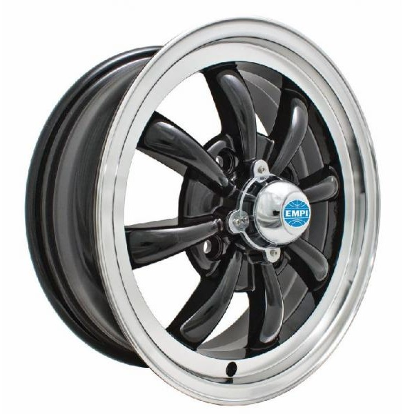 Empi Wheels GT-8 - Gloss Black w/Polished Lip Rim