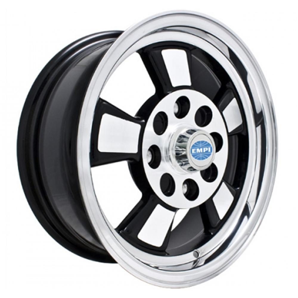 Empi Wheels Riviera - Gloss Black w/Polished Lip and Spokes Rim