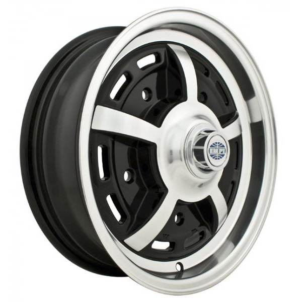 Empi Wheels Sprintstar 5-Lug - Gloss Black w/Polished Lip and Spokes Rim