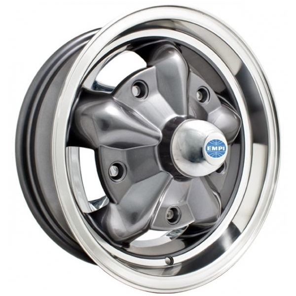 Empi Wheels Torque Star - Anthracite w/ Polished Lip Rim