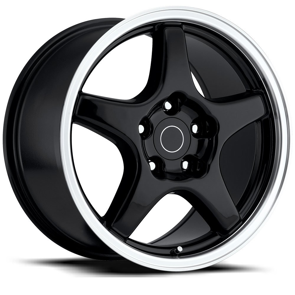 Factory Reproductions Wheels FR 21 ZR1Vette - Black Mach Rim