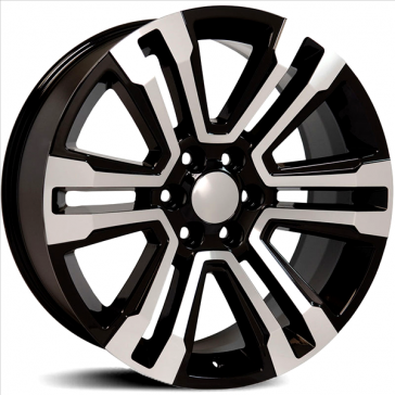 Factory Reproductions Wheels FR 72 Escalade - Black Machined Face Rim