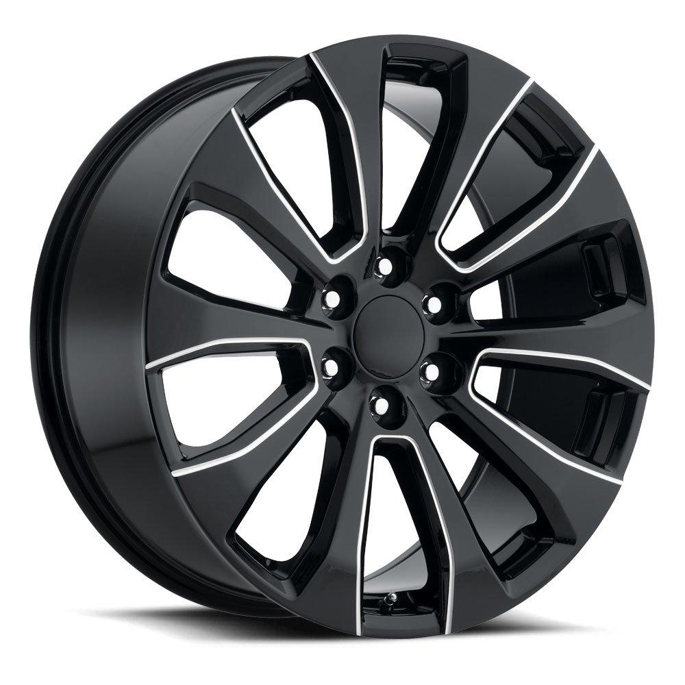 Factory Reproductions Wheels FR92 Silverado Split - Gloss Black Milled Rim