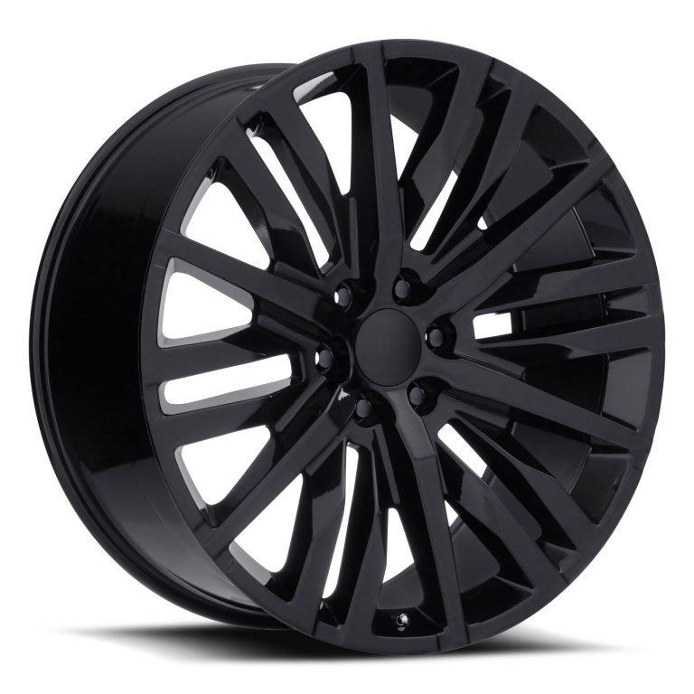 Factory Reproductions Wheels FR 97 GMC Split-6 Spoke - Gloss Black Rim