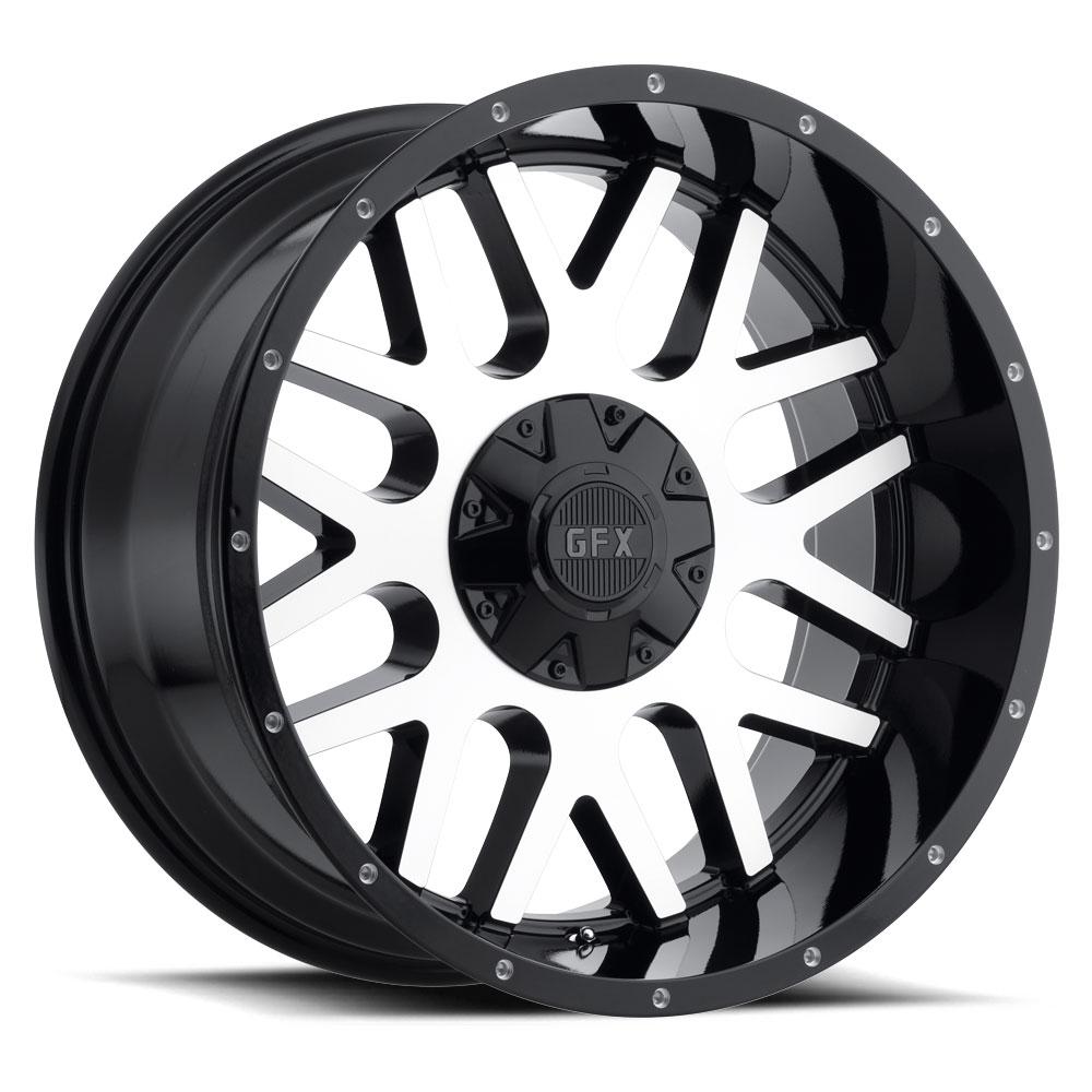G-FX Wheels TR-Mesh 4 - Gloss Black Machined Face Rim