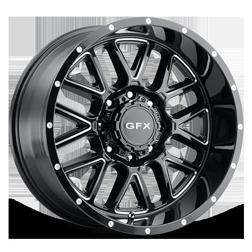 G-FX Wheels TM5 - Gloss Black Milled Rim