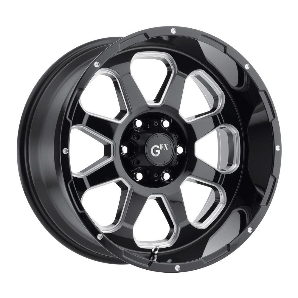 G-FX Wheels TR-10 - Gloss Black Milled Rim
