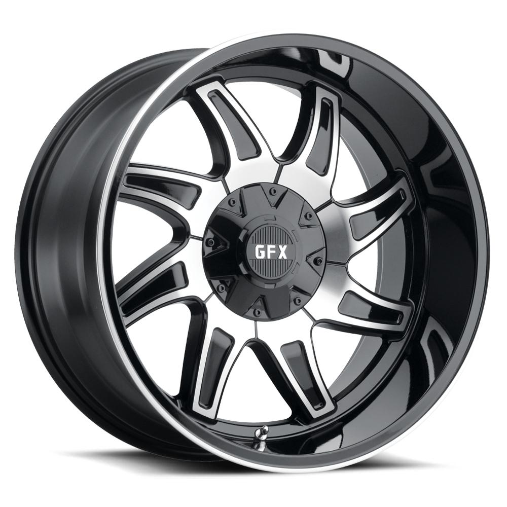 G-FX Wheels TR15 - Matte Black Machined Rim