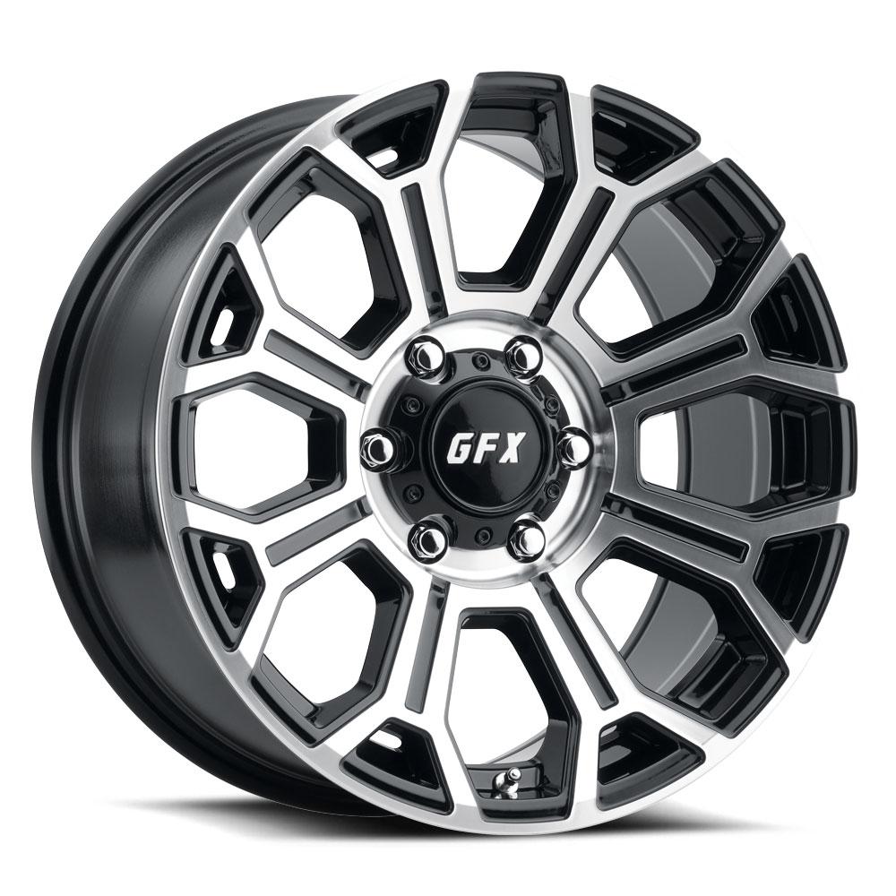 G-FX Wheels TR19 - Gloss Black Machined Face Rim