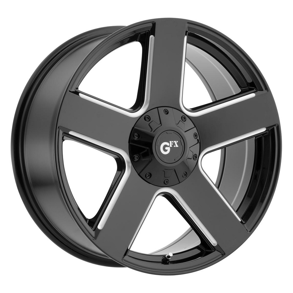 G-FX Wheels TR52 - Gloss Black Milled Rim