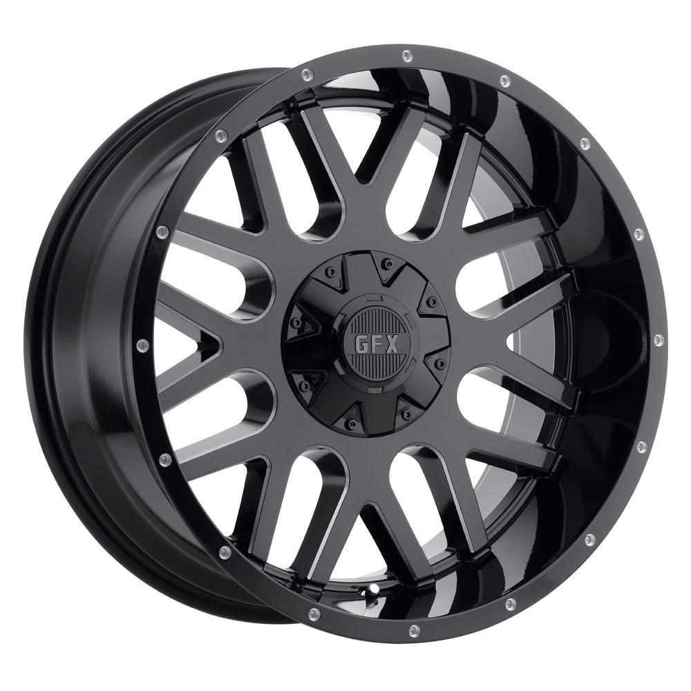 G-FX Wheels TR-Mesh 4 - Gloss Black Milled Rim