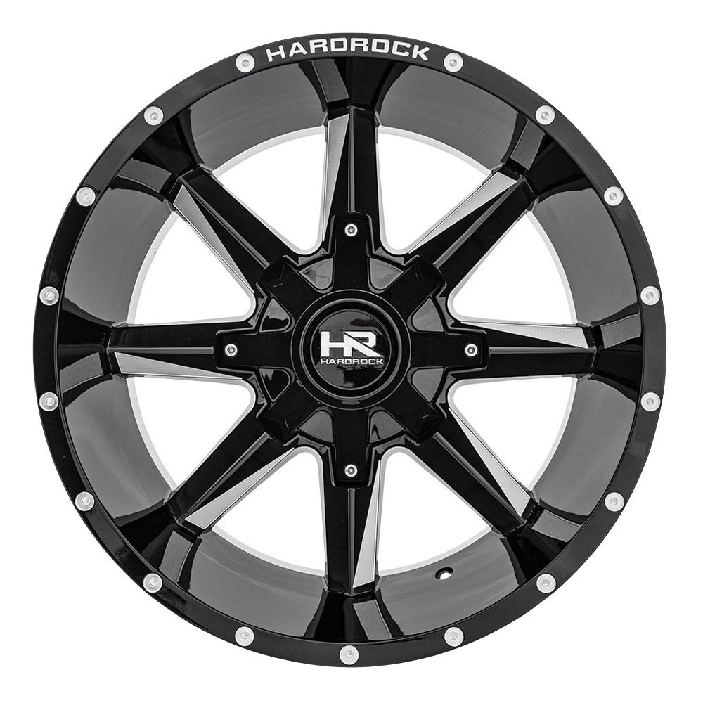 Hardrock Offroad Wheels Hardcore - Gloss Black Milled Rim