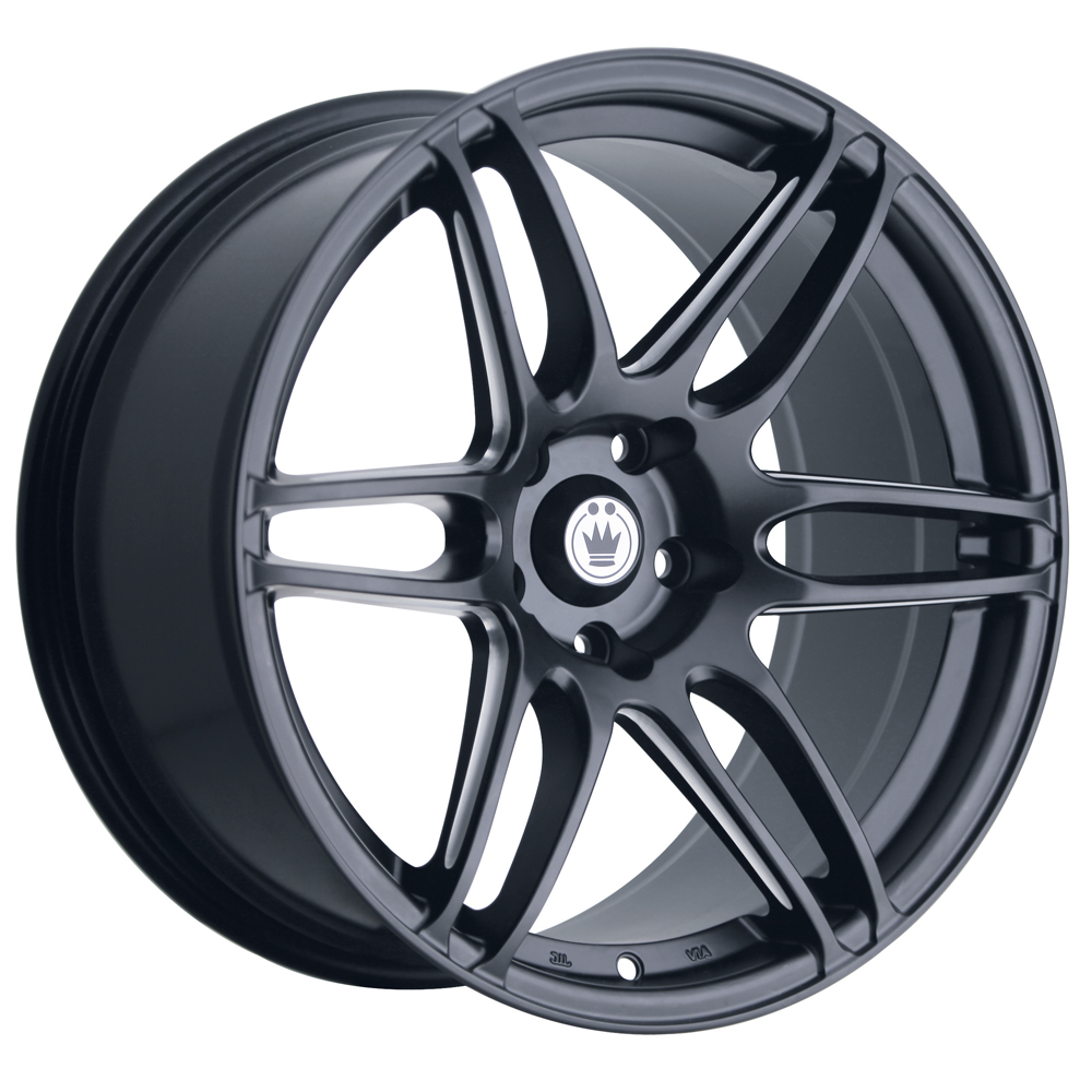 Konig Wheels Deception - Matte Black/Ball Cut Machine Rim