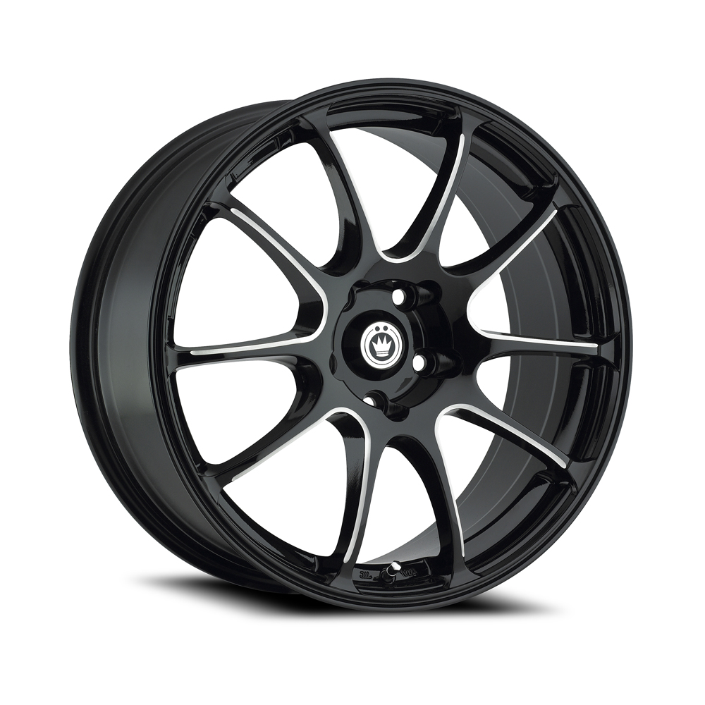 Konig Wheels Illusion - Black/Ball Cut Machine Rim
