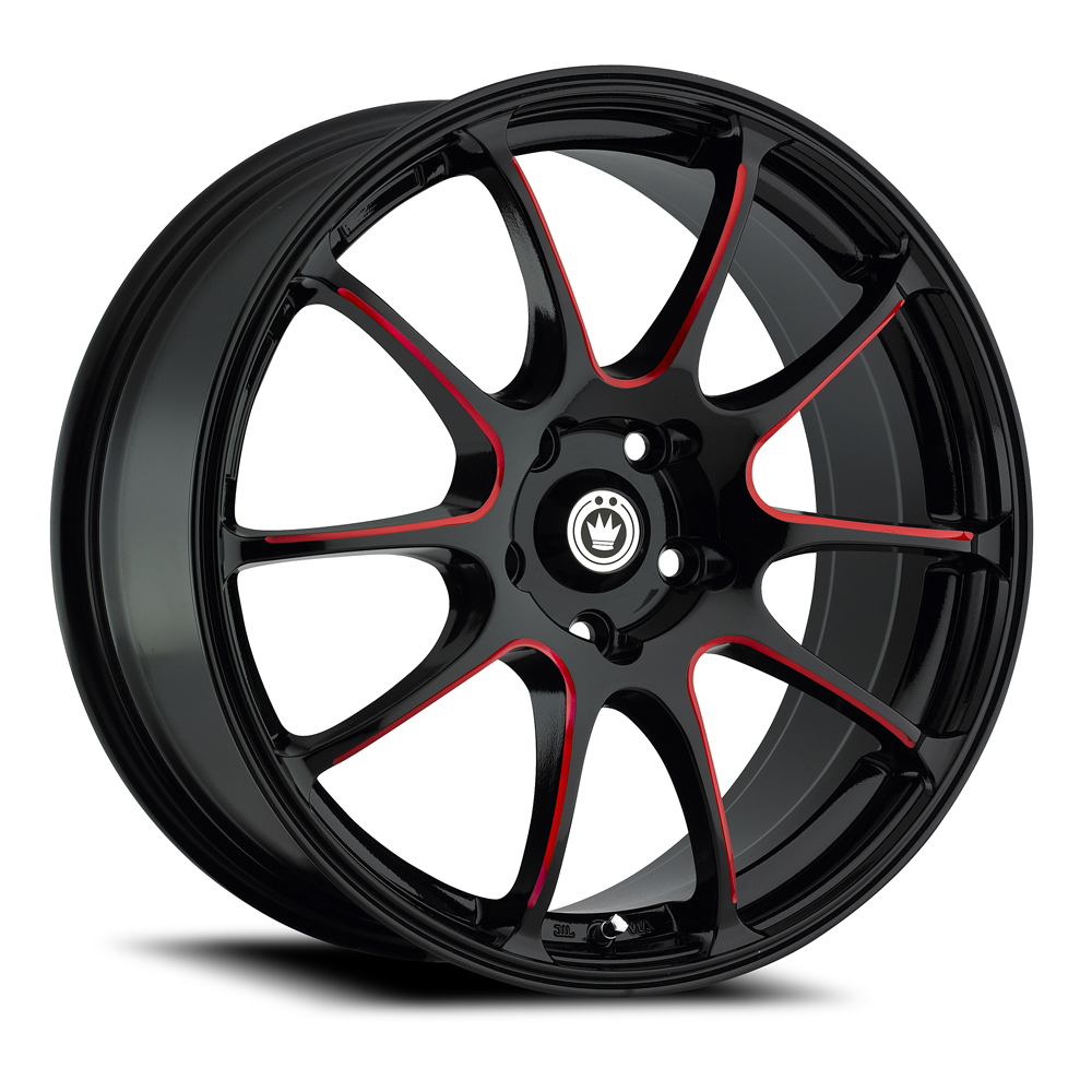 Konig Wheels Illusion - Black/Ball Cut Red Rim