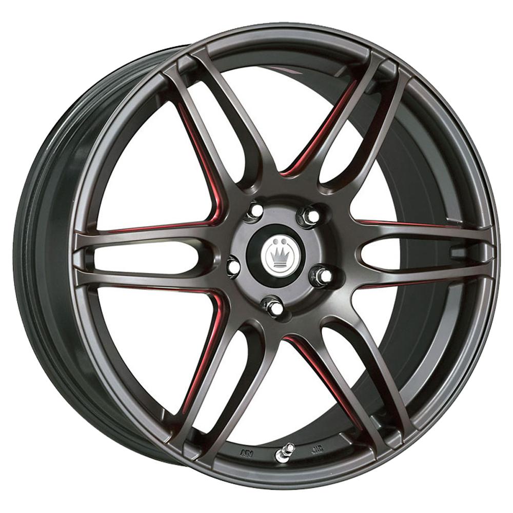 Konig Wheels Deception - Matte Black/Ball Cut Red Rim