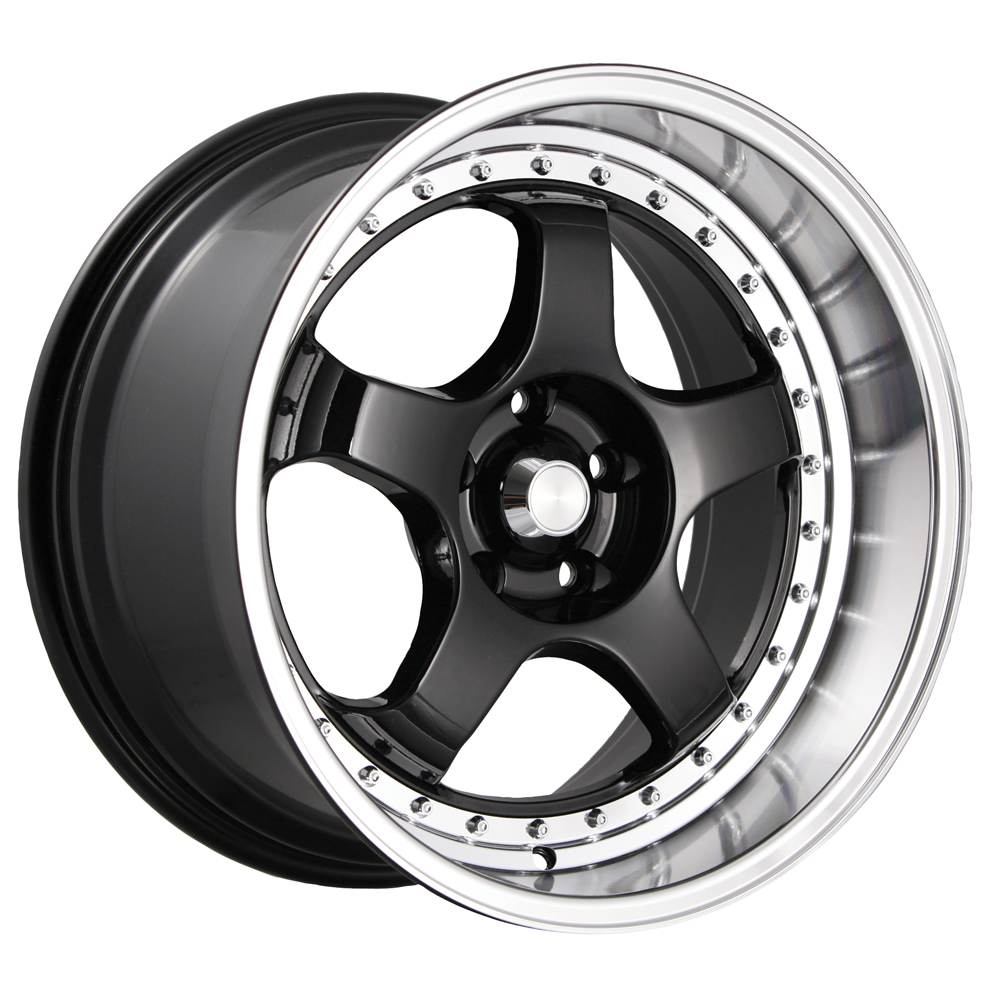 Konig Wheels SSM - Gloss Black w/Machined Lip Rim
