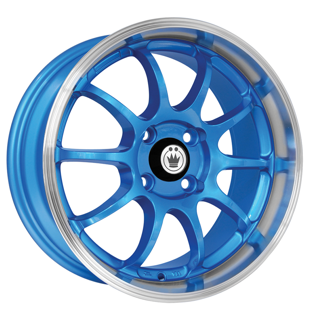 Konig Wheels Lightning - Blue/Machine Lip Rim