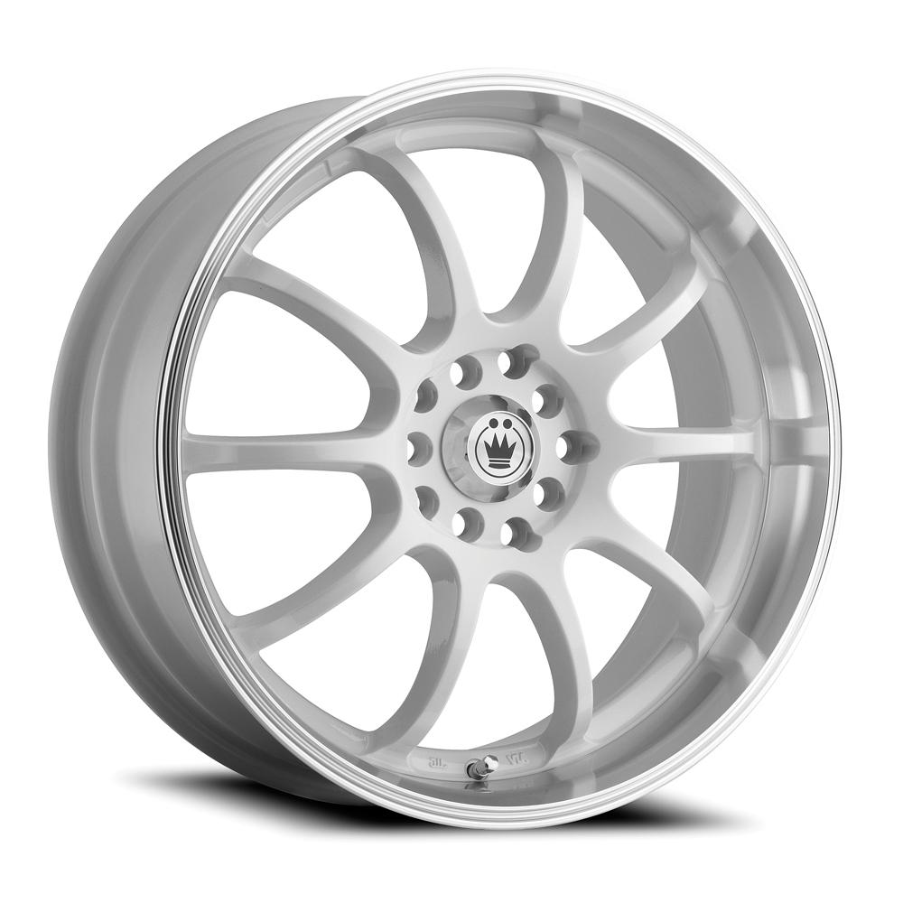 Konig Wheels Lightning - White/Machine Lip Rim