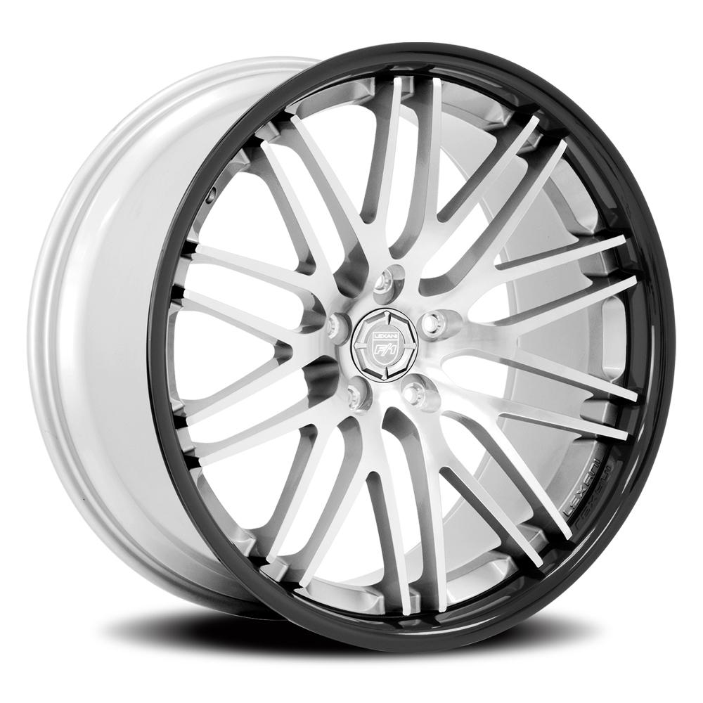 Lexani Wheels R-Twenty - Silver/Mach Face w/Black SS Lip Rim