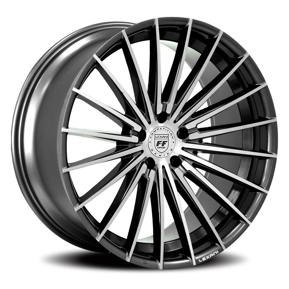 Lexani Wheels Ressa - Machined Face & Groove / Black Accents Rim