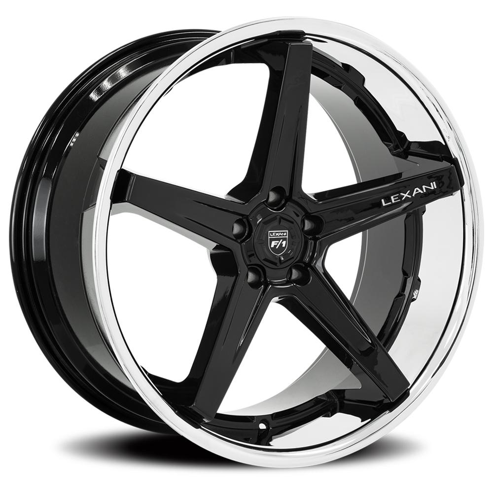 Lexani Wheels Savage - Gloss Black w/SS Lip Rim