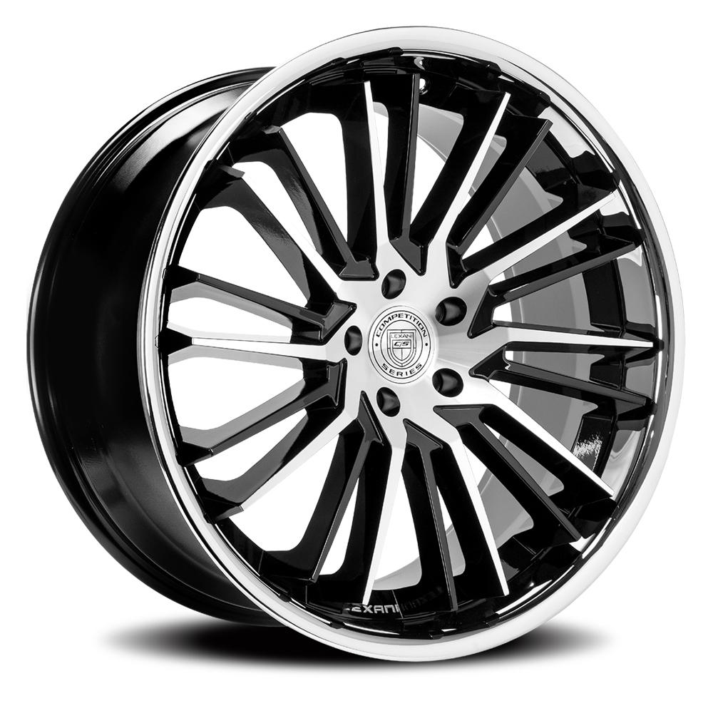 Lexani Wheels Virage - Gloss Black / Brushed Face w/SS Lip Rim