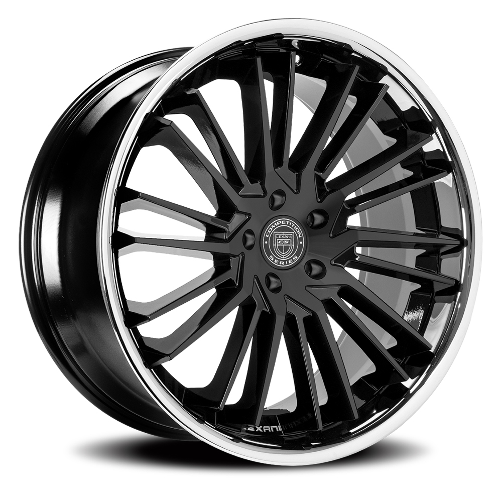 Lexani Wheels Virage - Gloss Black w/SS Lip Rim