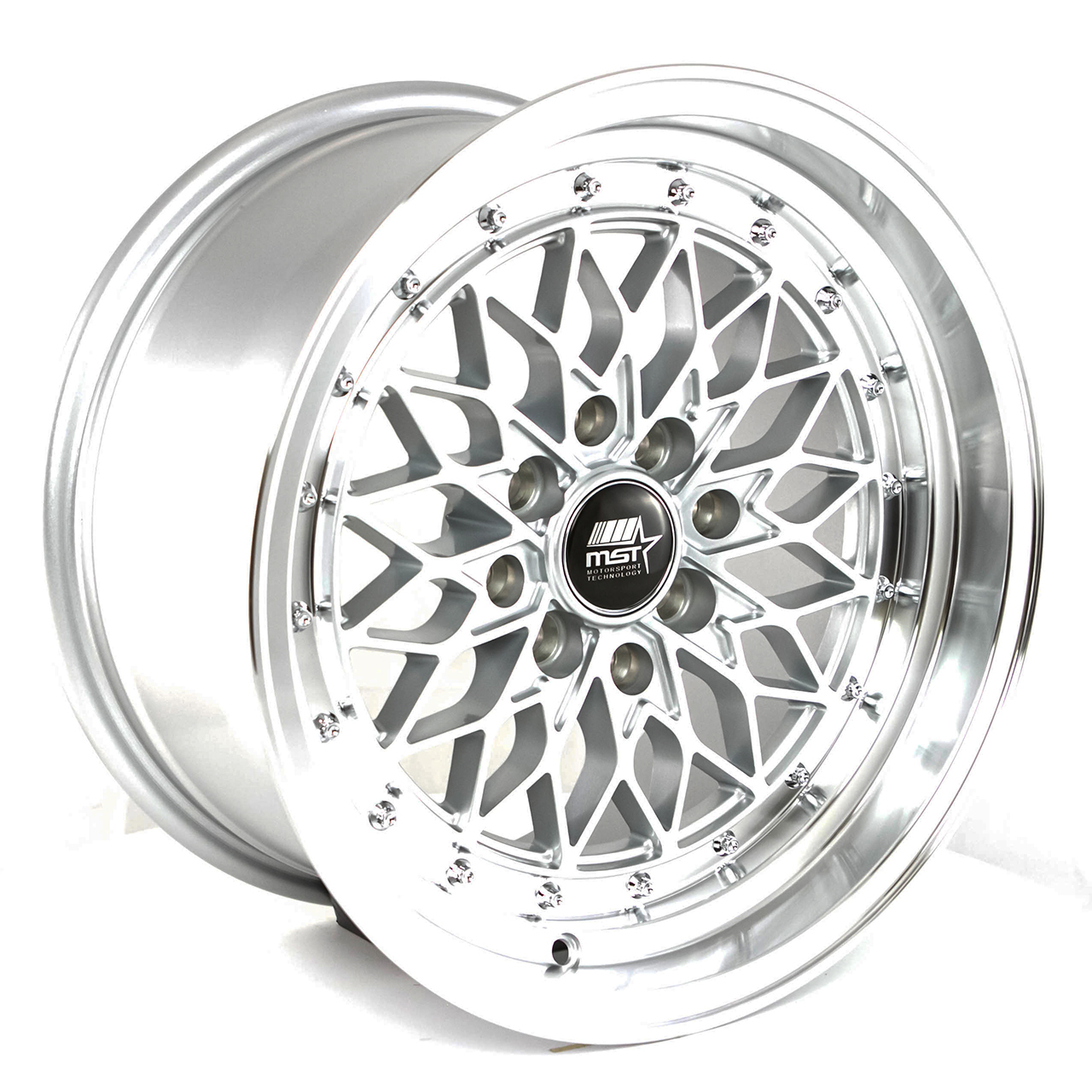 MST Wheels MT36 - Silver w/Machined Lip Rim - 15x80