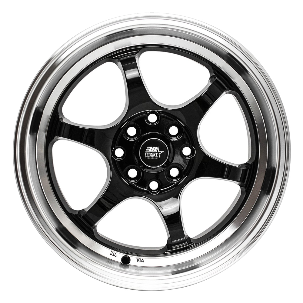 MST Wheels MT39 - Black w/Machined Lip Rim