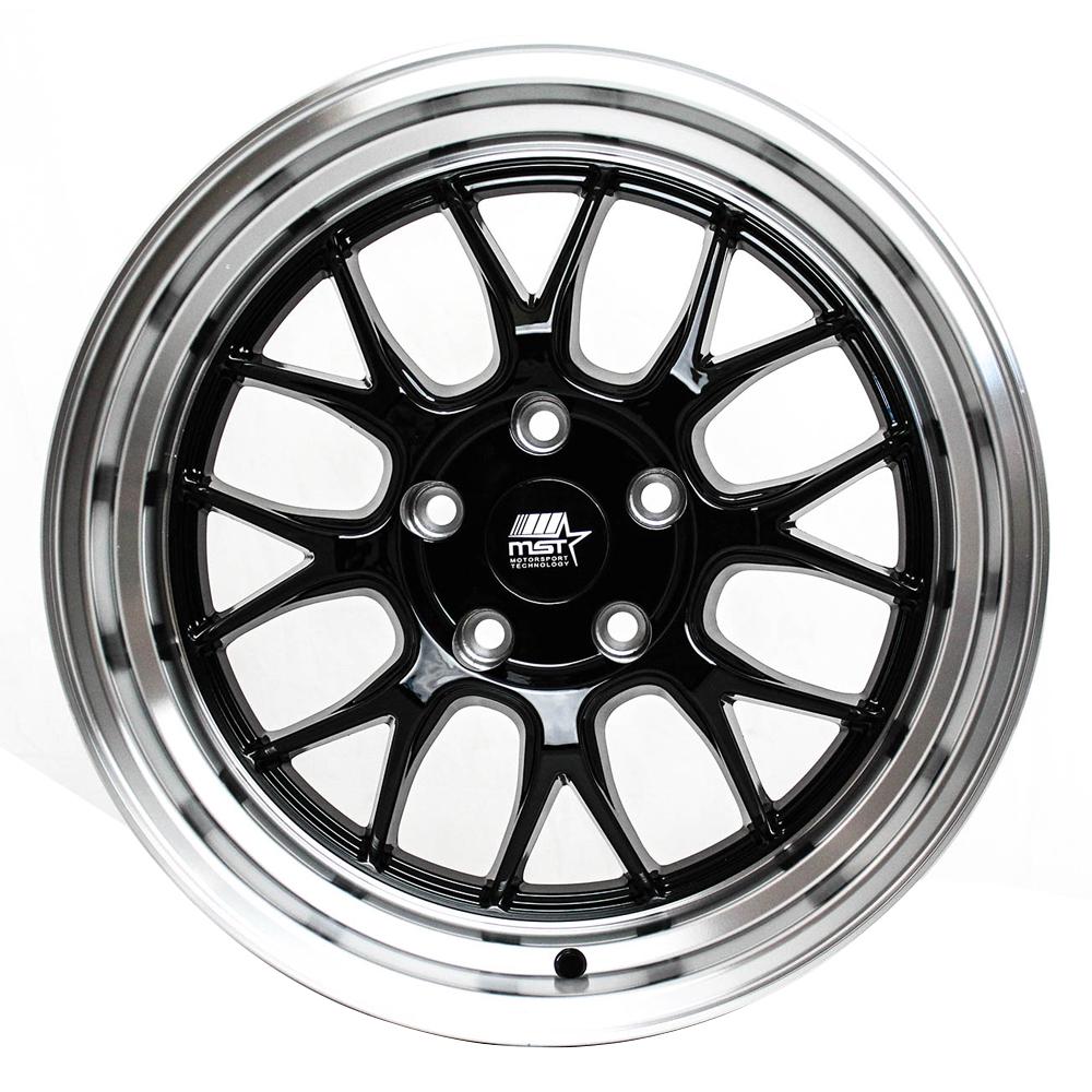 MST Wheels MT43 - Black w/ Machined Lip Rim