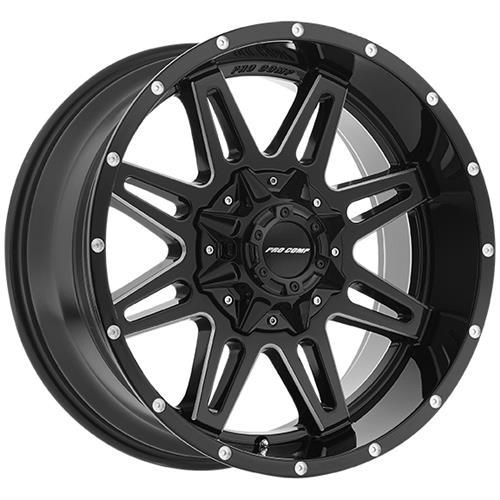 Pro Comp Wheel Series 42 Blockade - Gloss Black / Milled Rim