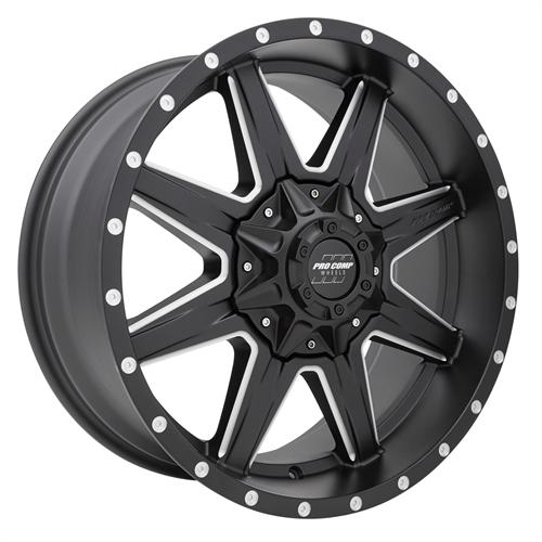 Pro Comp Wheel Series 48 Quick 8 - Satin Black / Milled Rim
