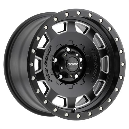 Pro Comp Wheel Series 60 Hammer - Satin Black / Milled Rim
