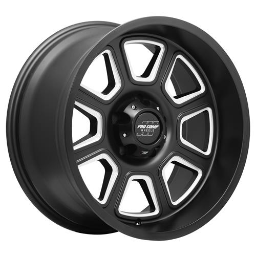 Pro Comp Wheel Series 64 Gunner - Satin Black / Milled Rim