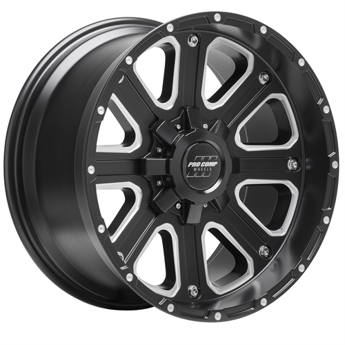 Pro Comp Wheel Series 72 Axis - Satin Black / Milled Rim