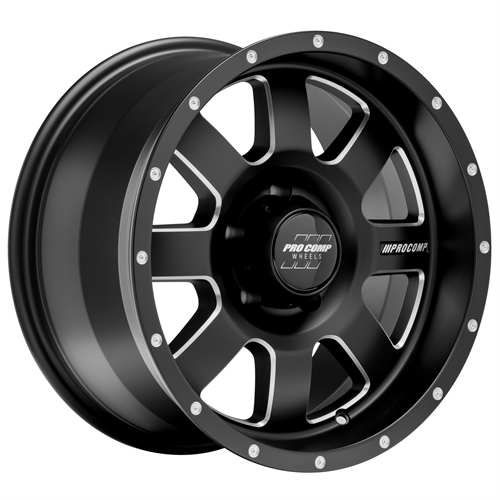 Pro Comp Wheel Series 73 Trilogy - Satin Black / Milled Rim