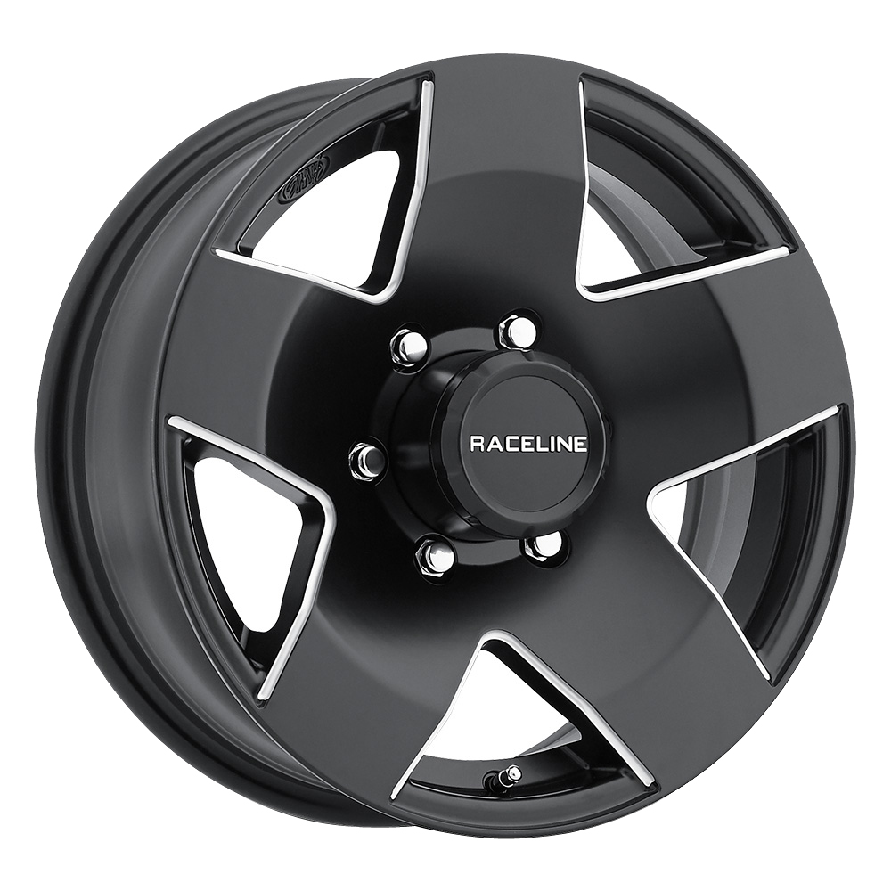 Raceline Wheels 855 Maxum Trailer - Black with Machine Rim - 13x4.5