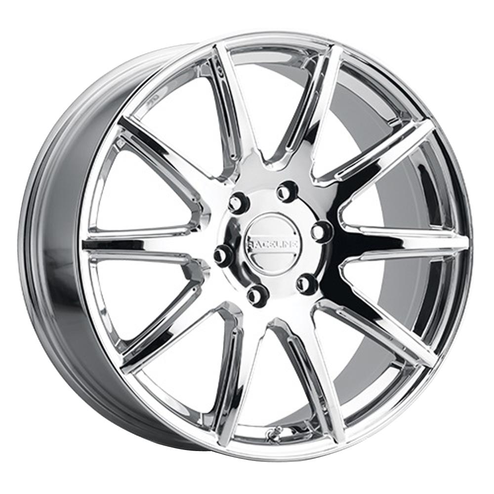 Raceline Wheels 159 Spike - Chrome Rim