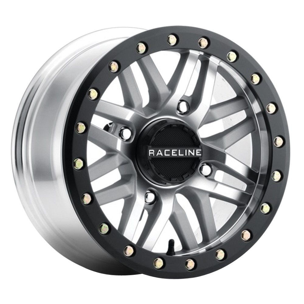 Raceline Wheels A91MA Ryno - Black Machined As Cast True Beadlock Rim