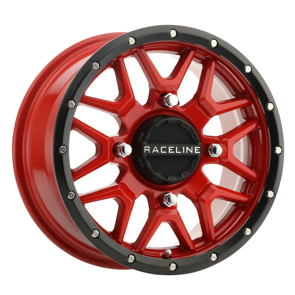 Raceline Wheels A94R Krank - Red/Black Simulated Beadlock Rim