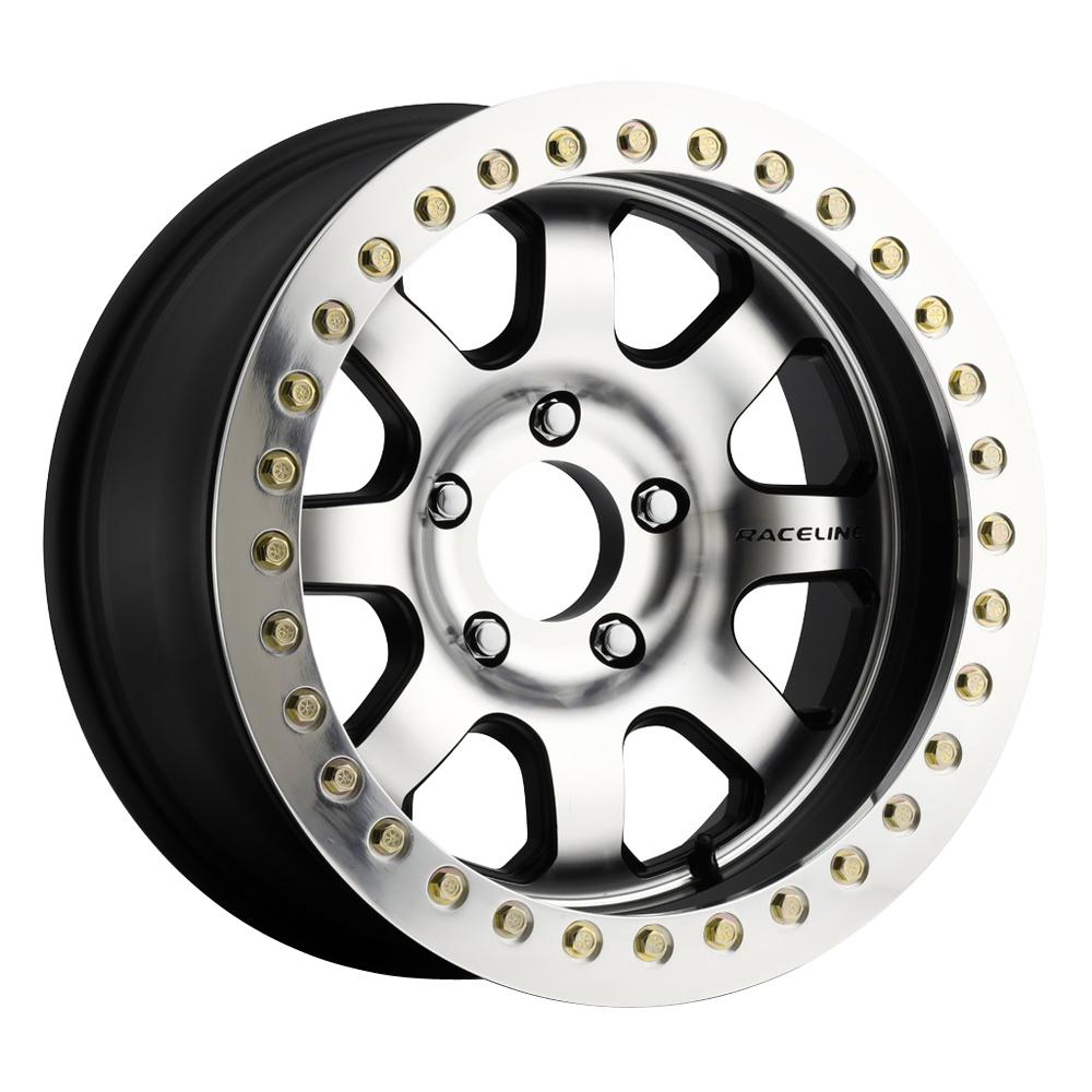 Raceline Wheels RT260 Avenger RT - Black Machined Face True Beadlock Rim