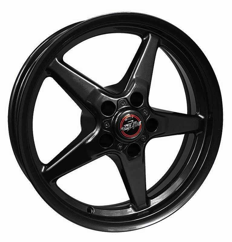 Racestar Wheels 92 Drag Star Bracket Racer - Black Rim - 18x5