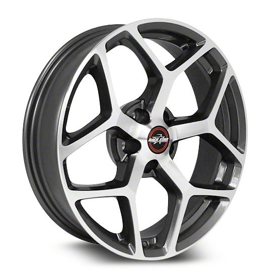 Racestar Wheels 95 Recluse - Metallic Gray with Machined Face Rim - 18x5