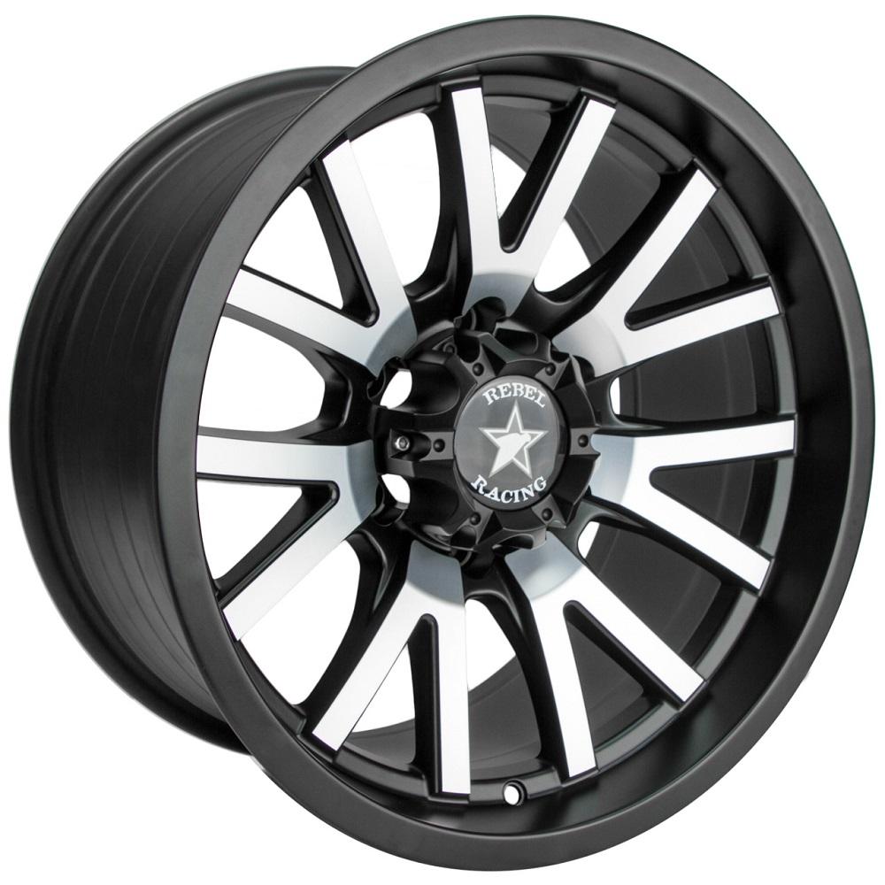 Rebel Wheels 92 Sierra - Matte Black w/Machined Face Rim