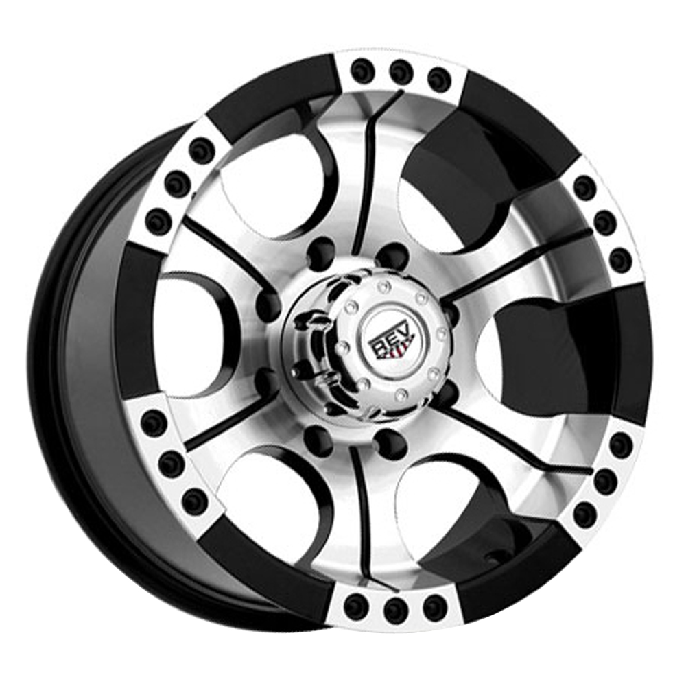 Rev Wheels 824 Shooter - Machined/Face Black Rim