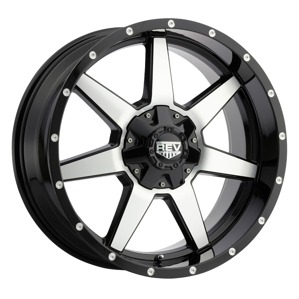 Rev Wheels 875 Offroad - Gloss Black / Machined Rim