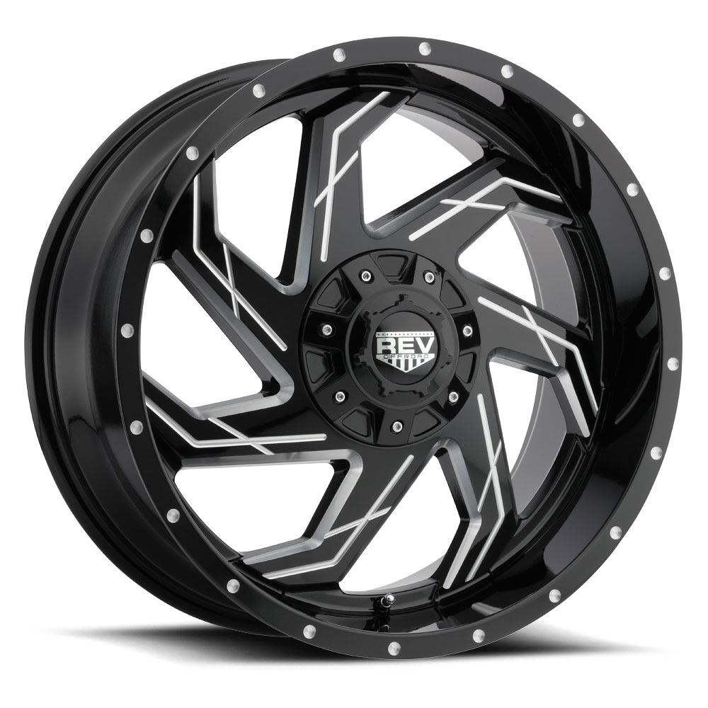 Rev Wheels 895 Offroad - Gloss Black / Milled