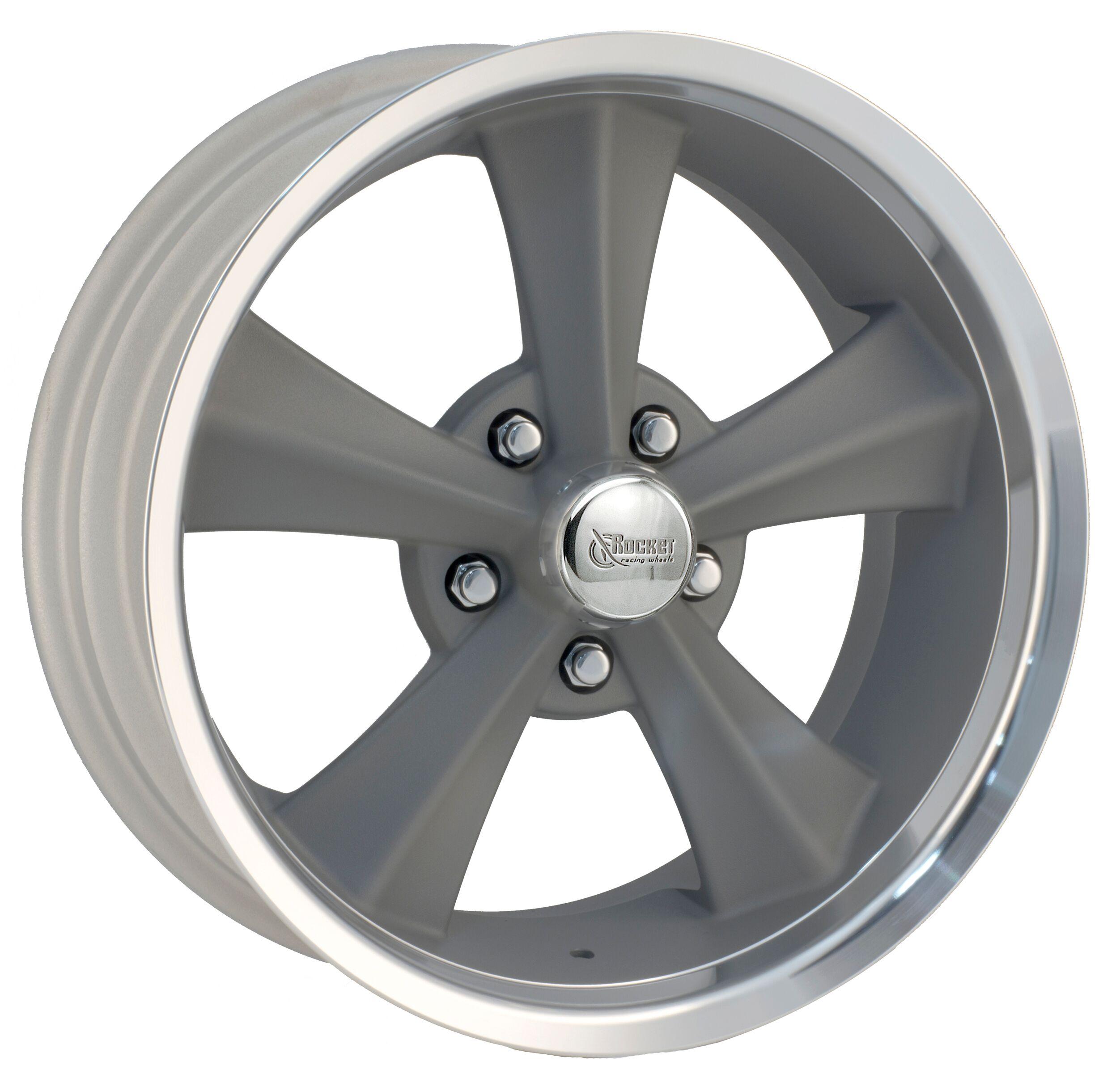 Rocket Racing Wheels Booster - Gray Paint Center / Machined Lip Rim
